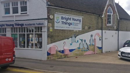The Bright Young Things mural. Picture: Woody Webster