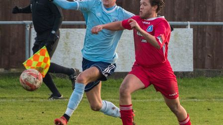 Jack Chandler scored Godmanchester Rovers' goal in their defeat to Histon. Picture: J BIGGS PHOTOGRA