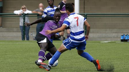 Solomon Sambou in action against Oxford City. Picture: LEIGH PAGE