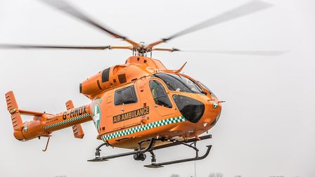 The Magpas Air Ambulance airlifted a man to hospital after a crash in Redbourn. Picture: Rob Holding