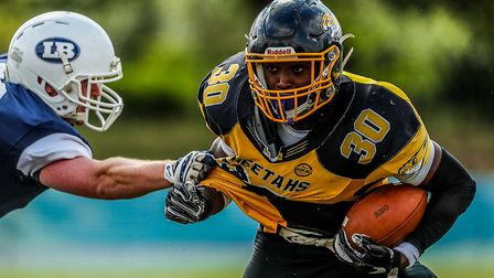 Adam Adeniji was the MVP as Herts Cheetahs won the SFC Division Two Championship. Picture: MARK LONG