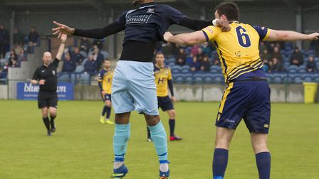 Striker Nabil Shariff is back at St Neots Town. Picture: CLAIRE HOWES