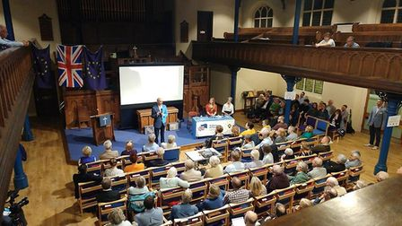 Lord Adonis at Marlborough Road Methodist Church. Picture: Emily Hornsby