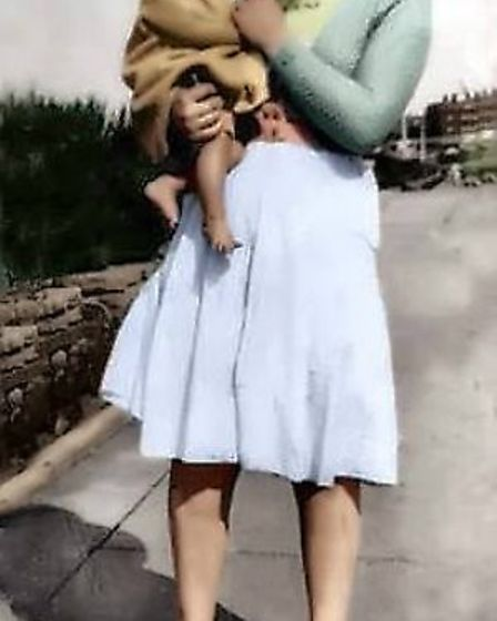 Jack and his mum, who may have been called Paddy. Picture: Courtesy of Guiseppe Schipani