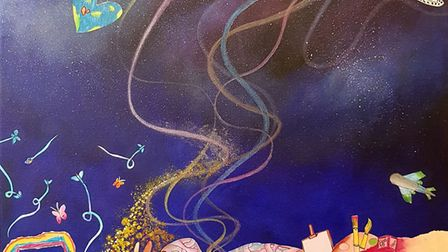 The 'voyages of discovery' cover art by 20 Royston schooldchildren and Stacey Leigh Ross. Picture: C