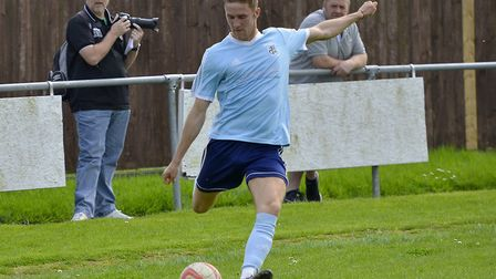 Jack Chandler gave Godmanchester Rovers the lead in their FA Cup exit at Hitchin. Picture: DUNCAN LA