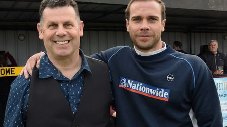 Matty Haniver, right, pictured with fellow boss Neville Nania during his time at Godmanchester Rover