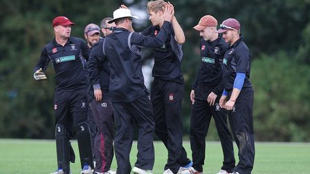 There would have been more celebrations as Harpenden avoided relegation.Picture: Karyn Haddon
