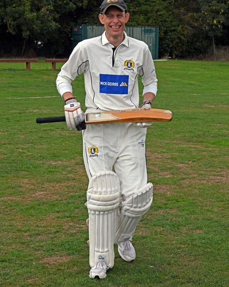 Terry Day first played for Eaton Socon's adult sides at 13. He enjoyed his 1,000th appearance at the