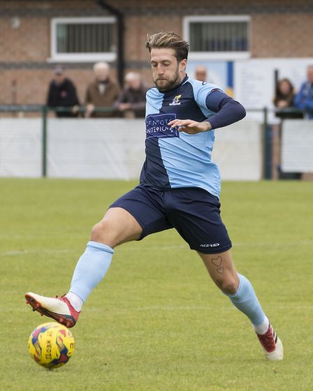 St Neots Town skipper Luke Knight was sent off in the first half of their FA Cup victory against Bis