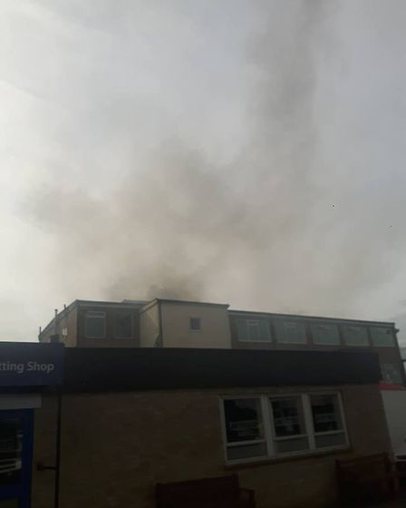 The fire at Huntingdon race course. Picture: Neil Stephenson