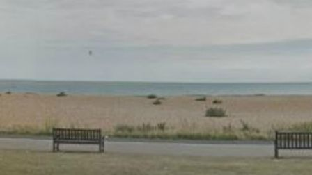 A speed boat was intercepted on Walmer Beach in Kent on August 3. Picture: Google Street View