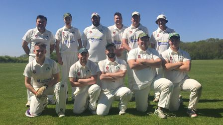 Bluntisham first XI, who won the Cambs Junior League Division One North title, are back row, left to