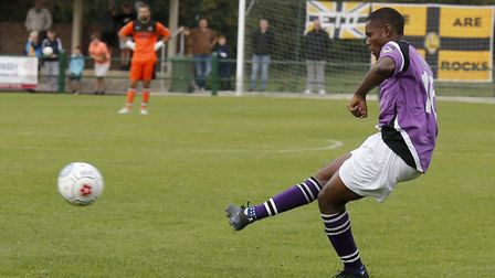 Khale Da Costa in action against East Thurrock. Picture: LEIGH PAGE