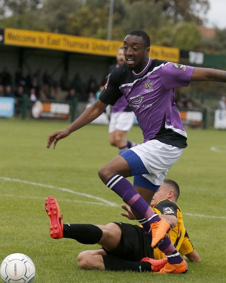 Ralston Gabriel drifts past the Rocks defence. Picture: LEIGH PAGE