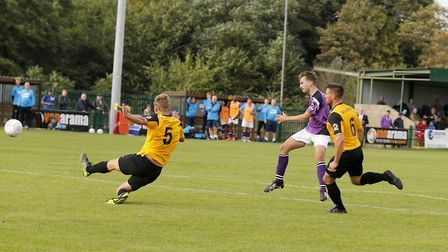 Sam Merson looks on as his strike flies into the back of the net to put the Saints back in the lead.