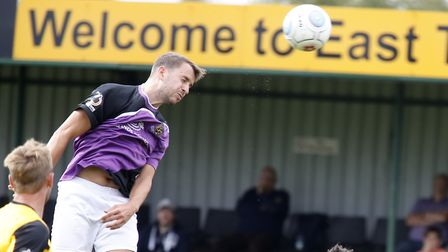 Sam Merson in fine form for the Saints scored twice, the first with a fine header. Picture: LEIGH PA