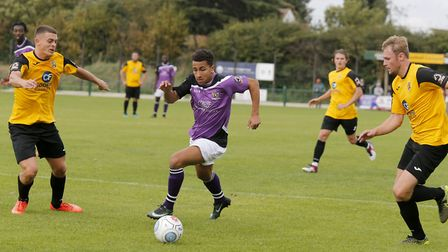 Zane Banton splits the East Thurrock defence. Picture: LEIGH PAGE