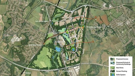 The Taylor Wimpey masterplan.