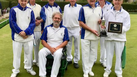 Townsend Bowls Club celebrate after winning the Jones Cup for the first time in seven years.