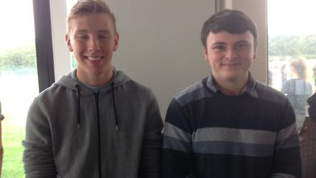 Luke Connelly and Thomas O'Reilly. They will be both going to St Neots Sixth Form where Luke will s