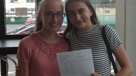 Longsands student Zoe Quail (right) who has five 9s, two 8s, two 7s and an A^ - she will be studying