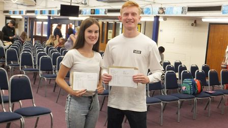 Ernulf students Gemma Bowman and George Armiger