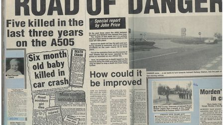 John Price's special report on the A505. Picture: Crow archive