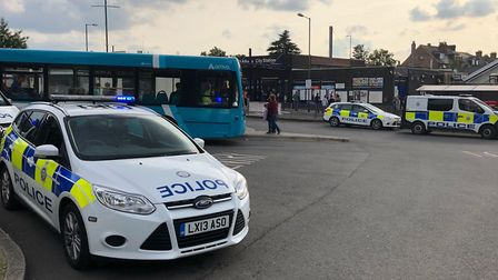 Police at St Albans City. Picture: Craig Shepheard.