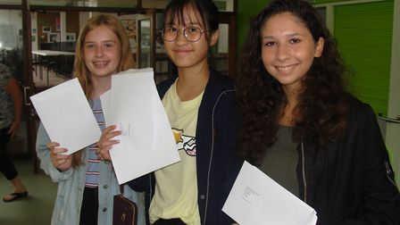 Pupils from Marlborough celebrating their results