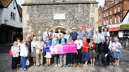 The launch of the St Albans Heritage Open Days 2018 at the clock tower. Picture: DANNY LOO