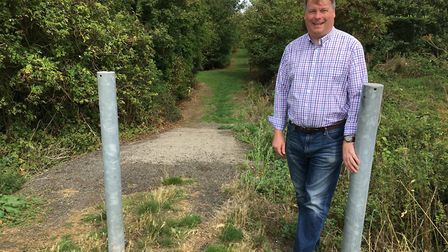 Cllr Tom Sanderson close to the site of an alternative link off Parkway
