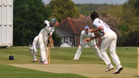 Conor Yorath smashed 99* as Redbourn won the title at North Enfield. Picture: Danny Loo