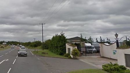 The crash happened on the A505 outside the pet crematorium. Picture: Google Street View