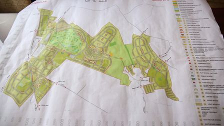 The plans for housing development on Heydon Grange Golf and Country Club owner John Akhtar's land. P
