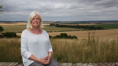 Chair of Heydon parish council Diana McFadyen's home nears the land that could be built on. Picture: