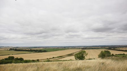 The panoramic view from chair of Heydon Parish Council Diana McFadyen's property of Heydon Grange Go