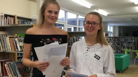 Daisy Needham and Issy Ryan pleased with their results. Picture: Meridian