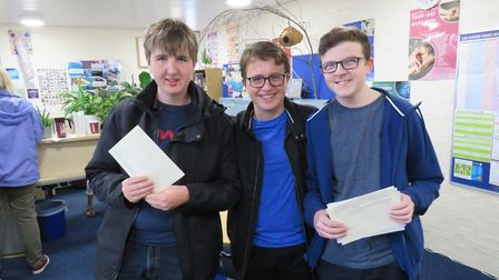 Oliver Sharp, Iain Lynn and Ben Haig. Picture: BVC