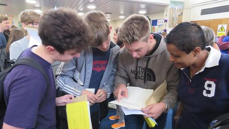 Students checking results. Picture: BVC