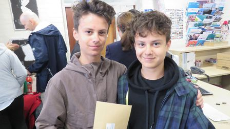 Twins Lucas and Joseph Hockley. Picture: BVC