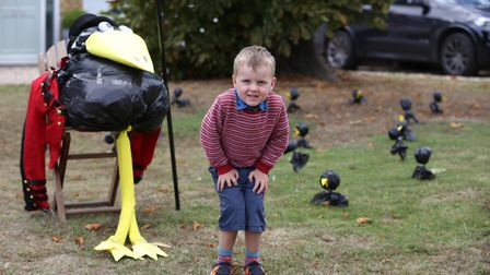 Thomas Newman, four at the Flamstead Scarecrow Festival 2018. Picture: DANNY LOO