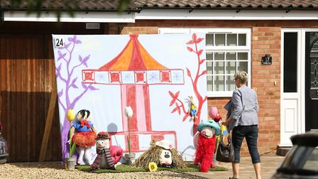 Visitors to the Flamstead Scarecrow Festival 2018. Picture: DANNY LOO