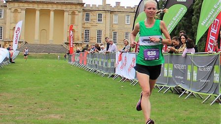 Jo O'Regan of Riverside Runners was the first female finisher in the Kimbolton Castle Half Marathon.