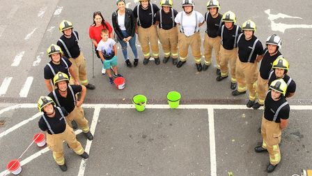 Royston Firefighters Climb at Tesco for charity 2018. Picture: KEVIN RICHARDS