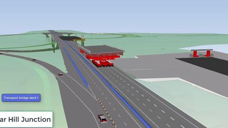 An image from the engineering video shows the remote controlled platform transporting the first brid