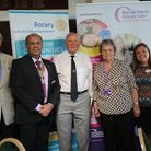 Rotary Club of St Albans Verulamium from L-R Robert Newton (Chairman of Community Services Committee