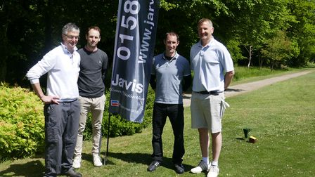 The winning team on the 10th tee including (far right) Mike Peters, Managing Director Jarvis Homes w