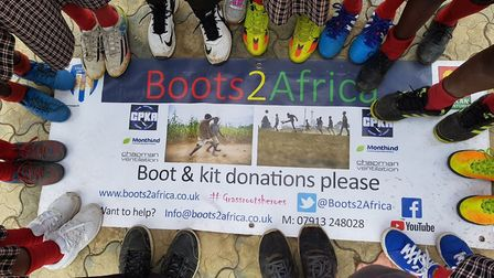 The Boots2Africa campaign. Picture: PR Origins