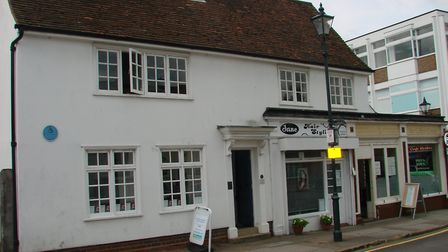 The former White Hart pub and Orfford corner fishmongers. Picture: Courtesy of Alan Cecil